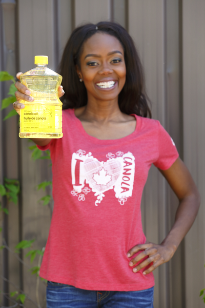 'I Heart Canola' Ladies Scoop Neck T-Shirt