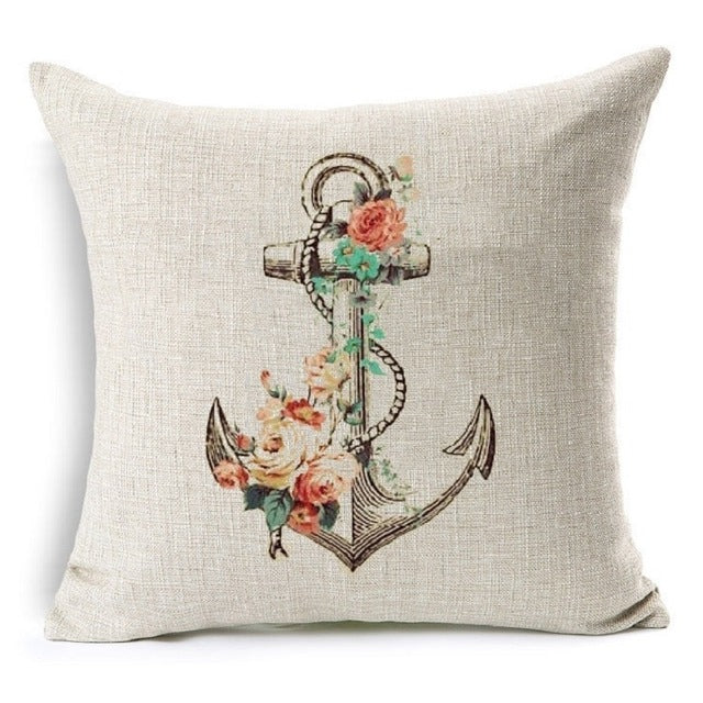 Nautical Anchor Hope Quotes Decorative Cushion Cover 40CM 40IN Best Nautical Decorative Pillow Covers