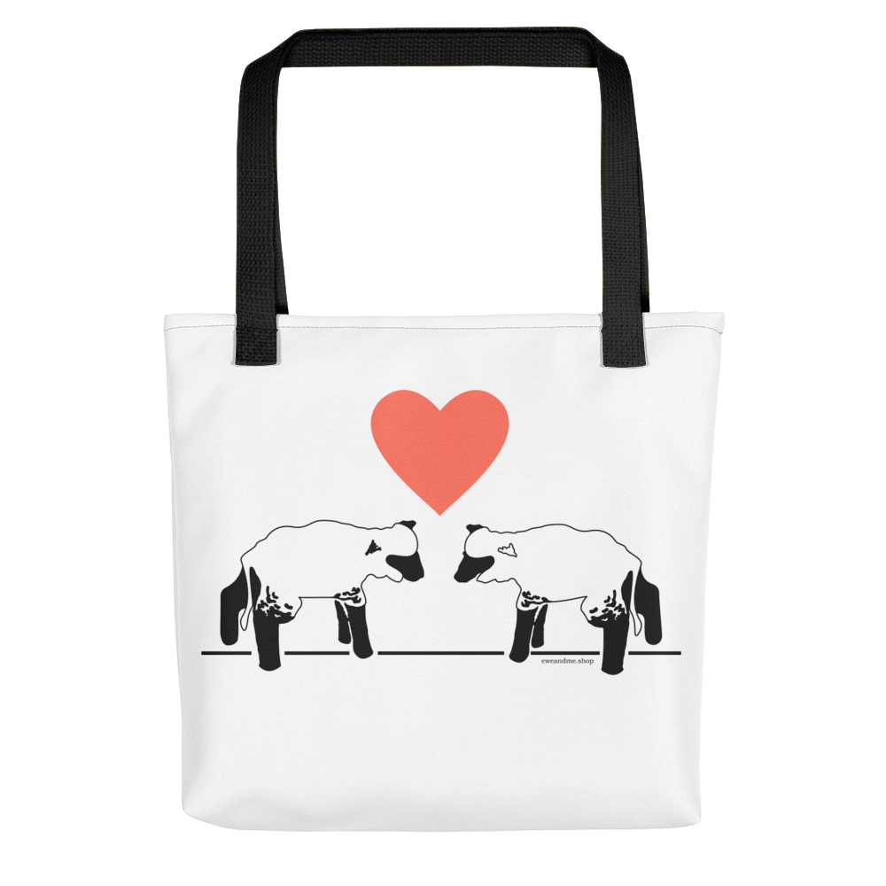 Lambs and Heart Tote Bag