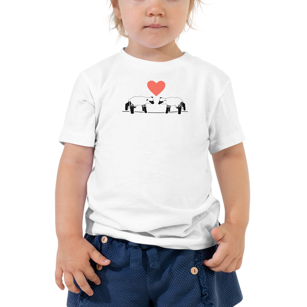 Lambs and Heart Toddler Short Sleeve Tee