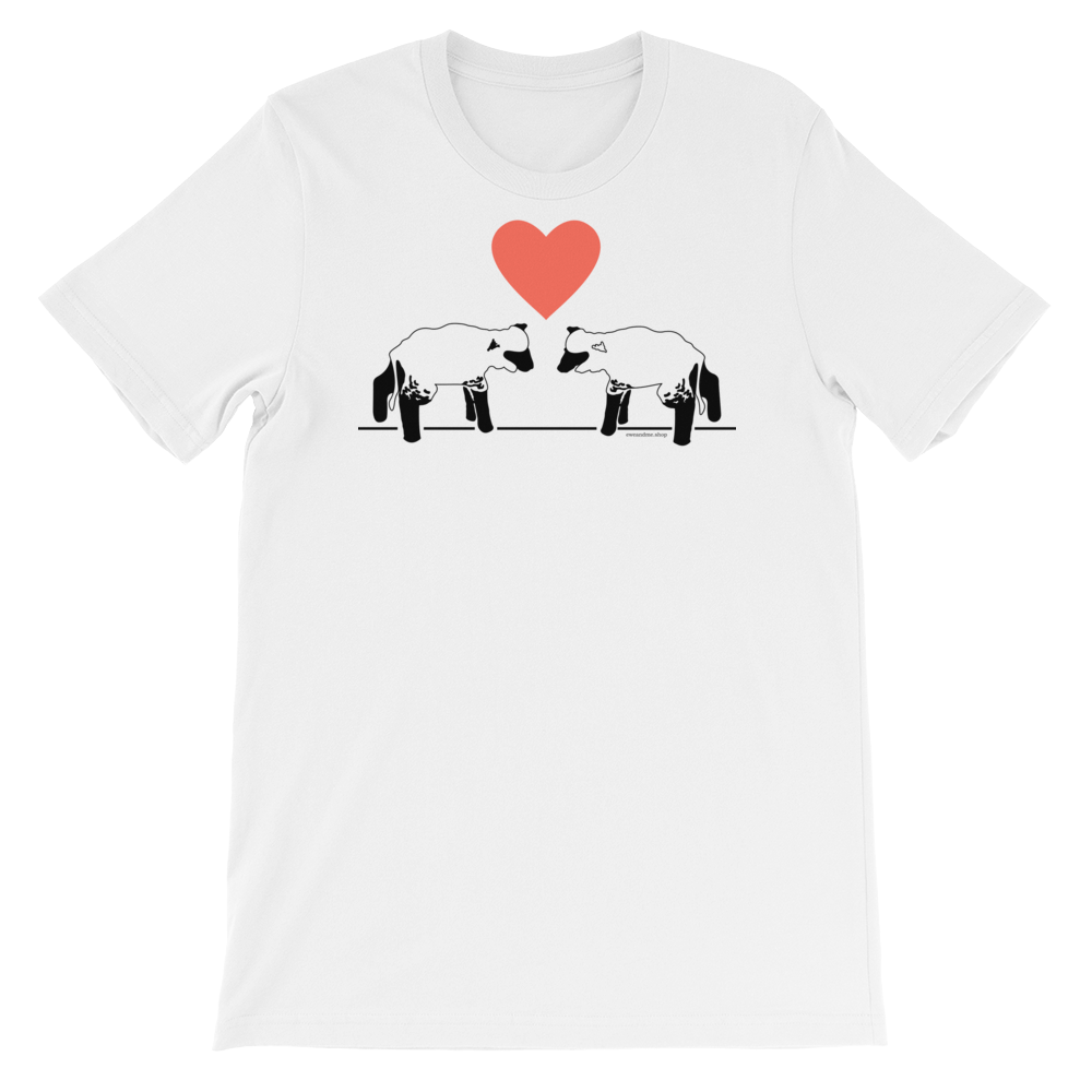 Lambs and Heart Adult Unisex Short Sleeve Tee