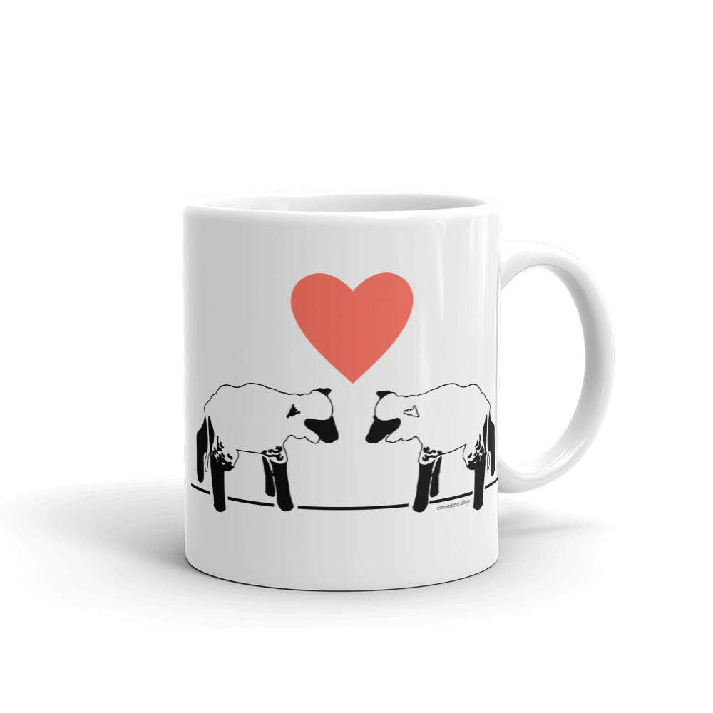 Lambs and Heart Coffee Mug