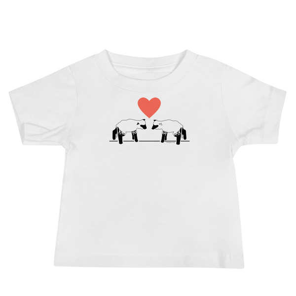 Lambs and Heart Baby Short Sleeve Tee