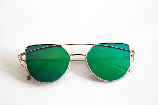 Chloe Green Mirror Sunglasses