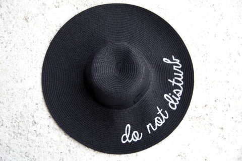 Do Not Disturb Hat- Black