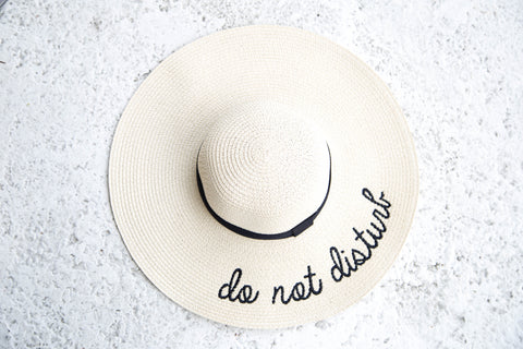 Do Not Disturb Hat- Beige