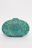 Mini Aqua Flowers Gem Clutch
