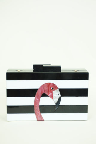 Flamingo Acrylic Clutch