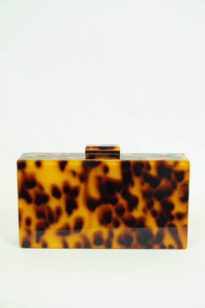 Animal Print Acrylic Clutch