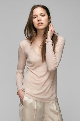 Isabella Cashmere Blend Long Sleeve Tee