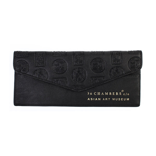 Black Wu Seal Envelope Wallet