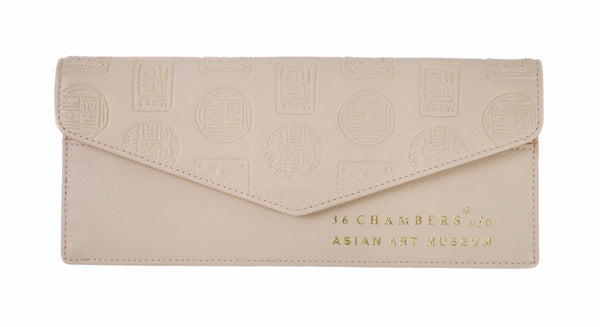 Cream Wu Seal Envelope Wallet