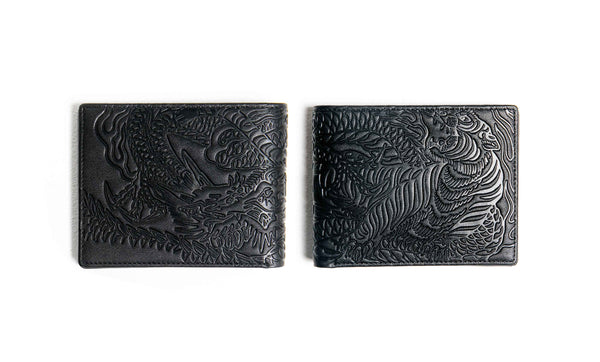 Tiger VS Dragon Wallet (Black)