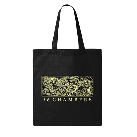 Tiger VS Dragon Tote Black