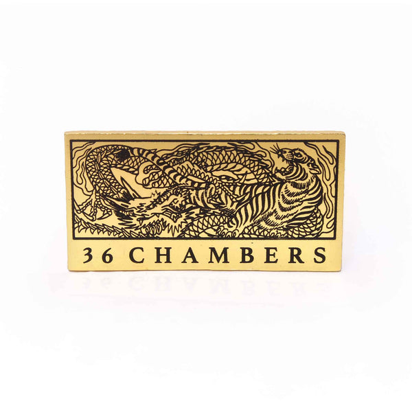 Tiger VS Dragon Gold Enamel Pin