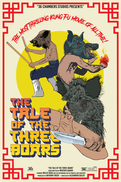 "Year of the Boar Print — The Tale of the Three Boars (24"" x 36"")"