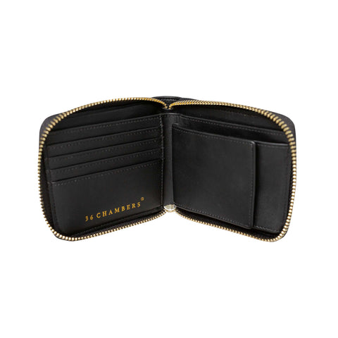 Tiger VS Snake Zipper Bifold - Black