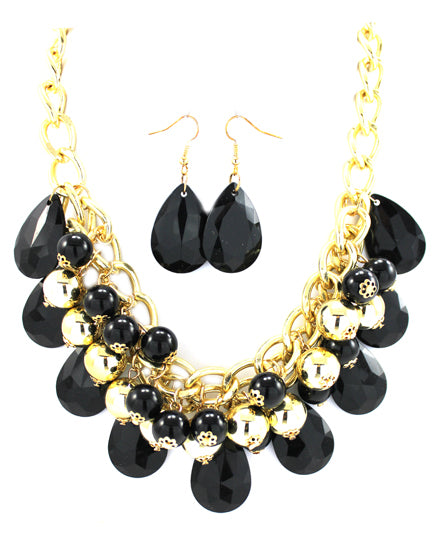 Gold Chain Long Bubble Necklace