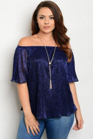 Plus Size  Shirt Top Blouse Off Shoulder