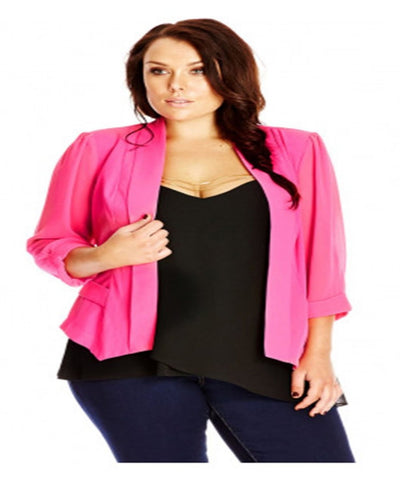 Women's Plus Size Colour Me Lipstick Cropped Blazer