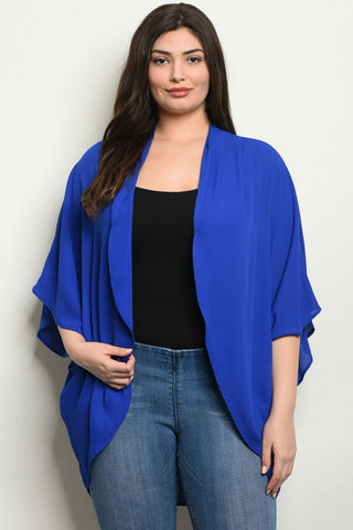 Curves Required Plus Size Cardigan Kimono