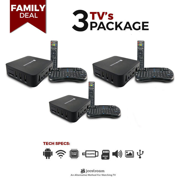 JeeStream Media Player - Family Deal ($80.00 per unit)