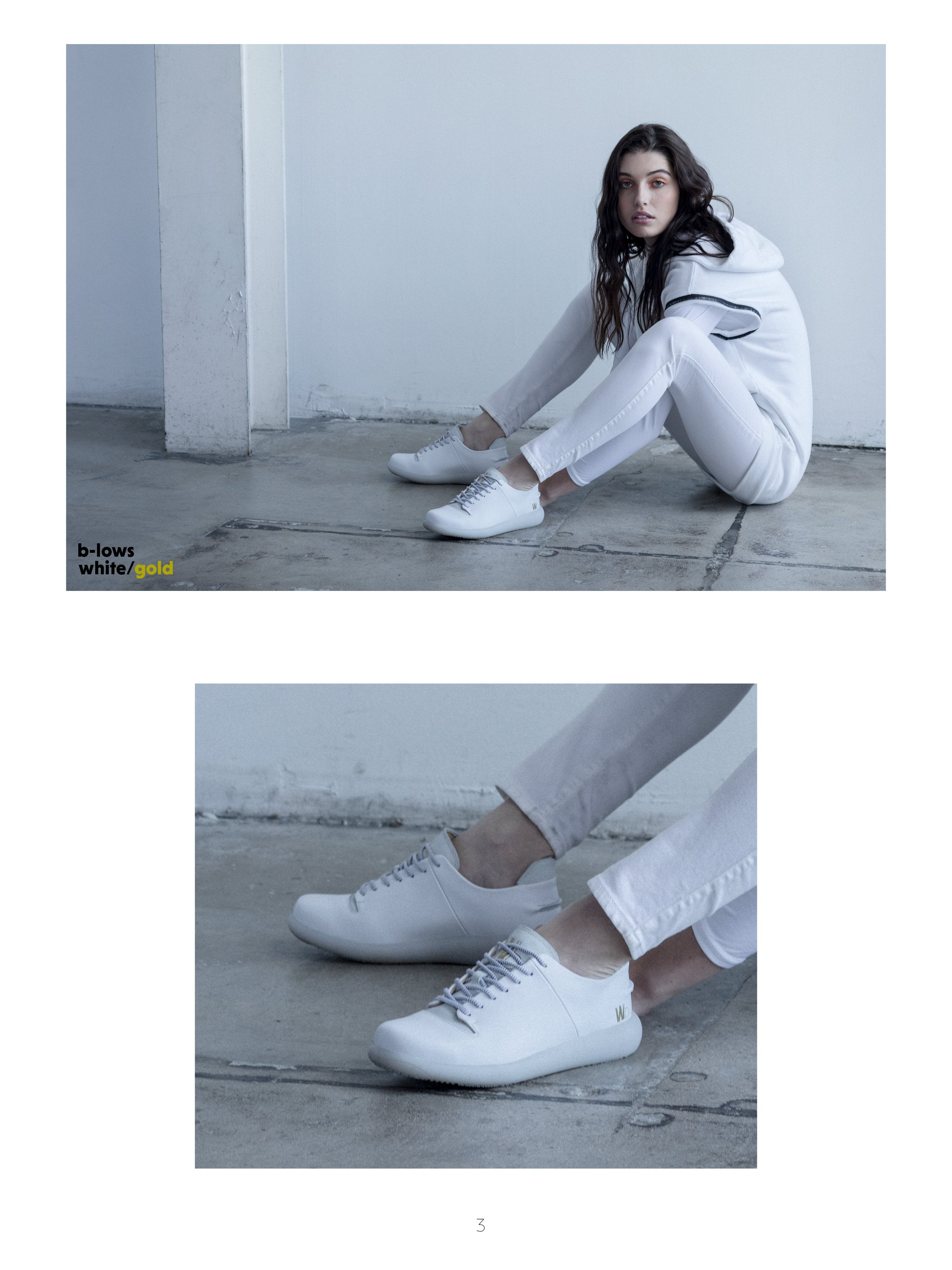 Photo Shoot & Fashion LookBook Featuring B-Lows White Sneakers 4