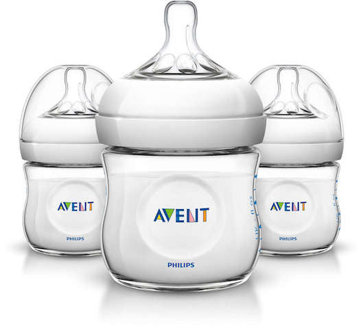 Philips Avent BPA Free Natural Bottles 4oz 3-pack