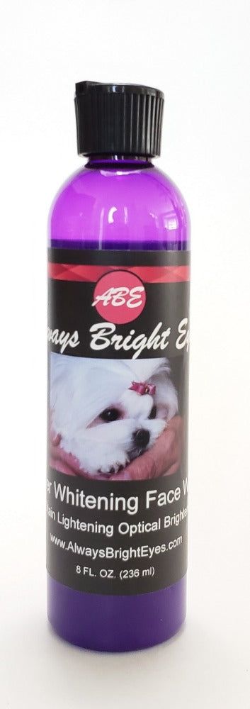 Always Bright Eyes - Super Whitening Concentrated Face Wash Shampoo with Optical Brighteners. Shampoo for Dogs and Puppies, Whitening and Deep Cleaning. Tear Stain Shampoo