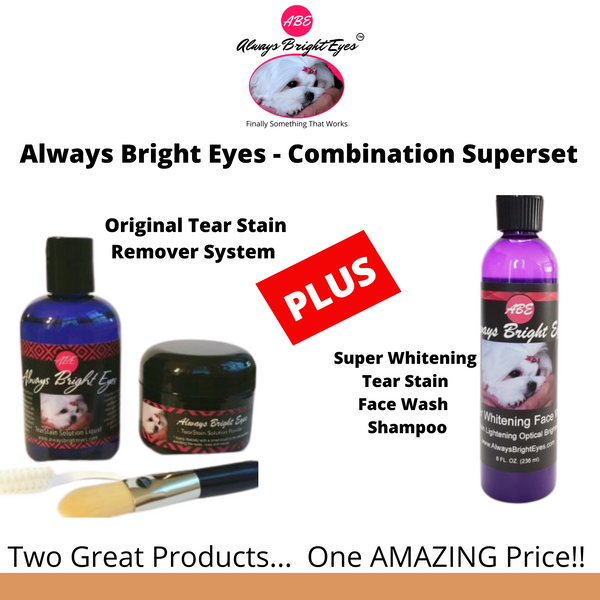 ABE Tear Stain Remover Set Plus Face Wash -  Buy 5 Get One Free - Distributors Price