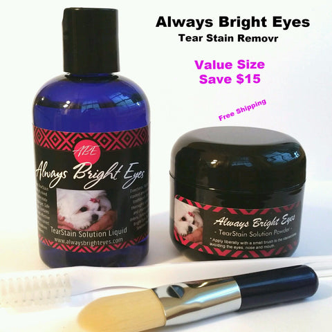 Always Bright Eyes - Tear Stain Remover For Dogs -Complete Set Large Size