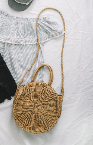 Native Woven Circle Bag