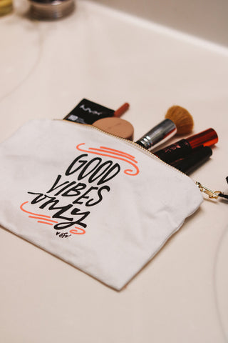 Good Vibes Cosmetic Bag