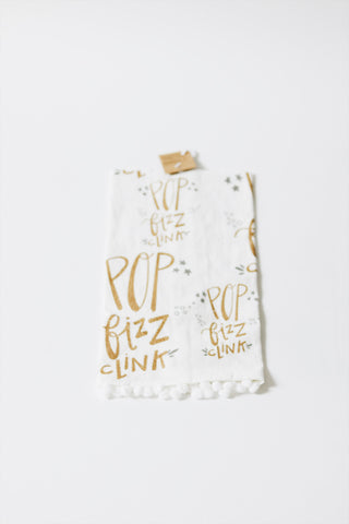 Pop, Fizz, Clink Tea Towel