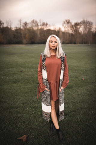 Tie It On Sweater Dress