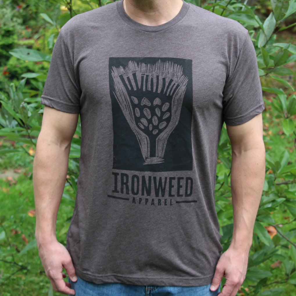 Mens Gardening T-shirt with Ironweed Logo
