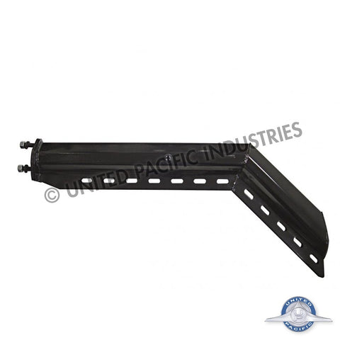 "Black 30"" Heavy Duty Spring Loaded Angled Mud Flap Hanger 2 1/2"" Bolt Pattern"