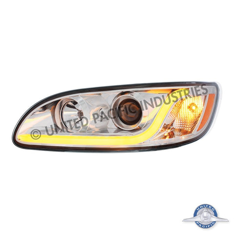 Peterbilt 382/384/386/387 Projection Headlight w/ LED Dual Function Light Bar - Driver
