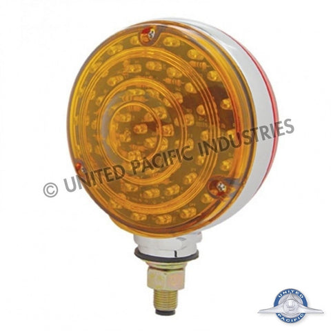 88 LED Double Face Turn Signal Light - Amber/Red Lens.
