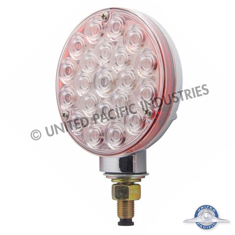 21 LED Single Face Turn Signal Light - Red LED/Clear Lens