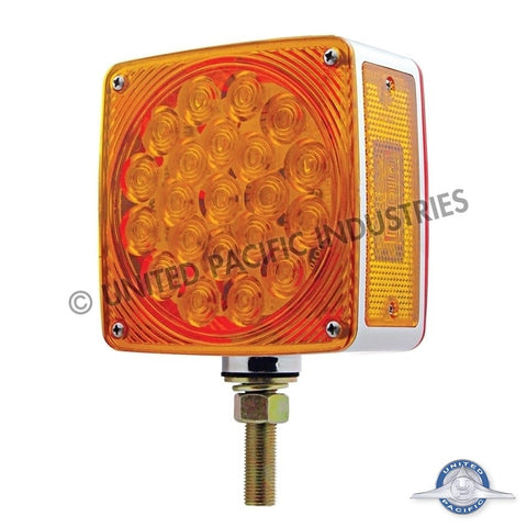 45 LED Double Face Turn Signal - Amber/Red Lens - Driver Side