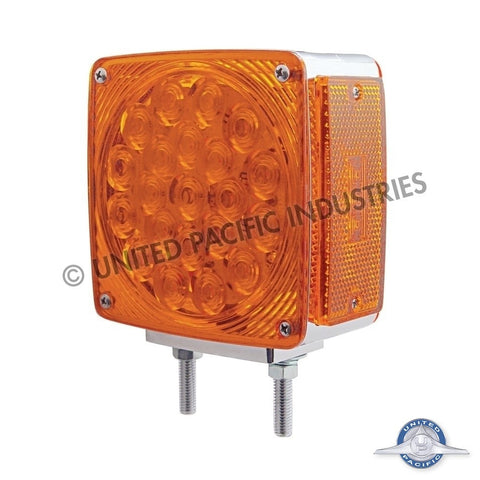 45 LED Double Face Turn Signal - 21 Amber/Red + 3 Amber LEDs w/ Amber/Red Lens - Driver