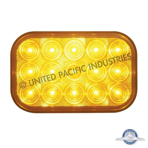15 LED Rectangular Turn Signal Light - Amber LED/Clear Lens