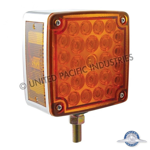 52 LED Reflector Double Face Turn Signal - Amber/Red Lens - Passenger Side