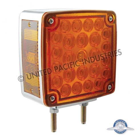 52 LED Double Face Turn Signal - Amber/Red Lens - Passenger