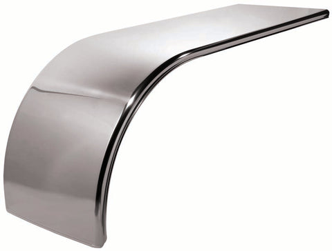 "66"" Stainless Steel Smooth Front Half Fender with Rolled Edge"