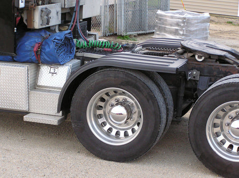Poly Truck Half Fenders from Minimizer in Black