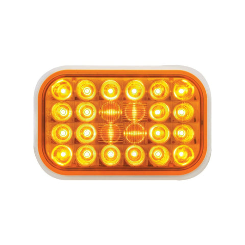 77180 Amber Rectangular Pearl 24-LED Park/Turn/Clearance Sealed Light