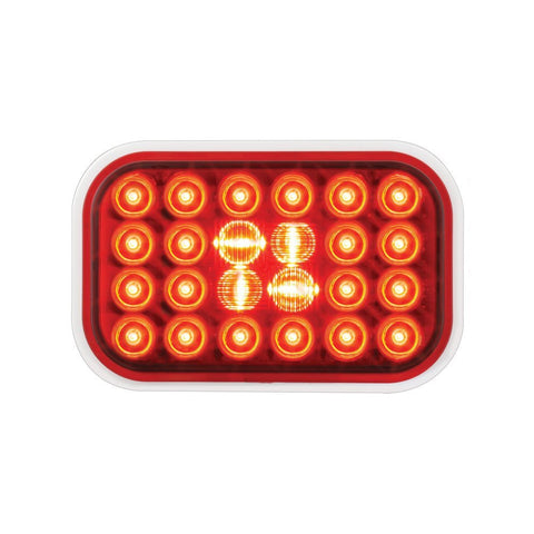 Red Rectangular Pearl 24-LED Stop/Turn/Tail Sealed Light