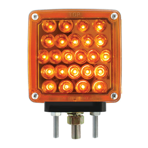Left Side Amber Square Double Face Pearl LED Pedestal Light